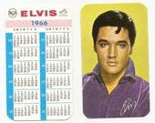 Old 1966 ELVIS PRESLEY RCA Pocket Calendar