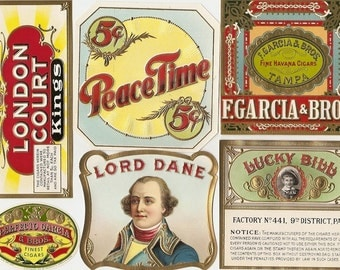 33 different 1930s plus TOBACCO and CIGAR Labels TOBACCO Due to the continuing Ofac sanctions against Cuba origin of labels from u.s.