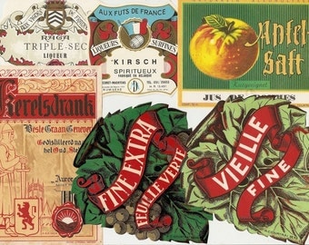 37 DIFFERENT Old 1930's plus EUROPEAN Liqueur Labels