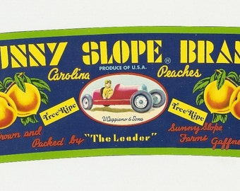 9 Old Vintage FRUIT CRATE LABELS