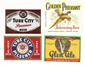 20 Different Old 1930's Plus OLD BEER LABELS