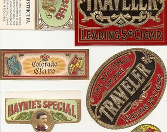 31 1930s plus TOBACCO and CIGAR LABELS Due to the continuing Ofac sanctions against Cuba origin of labels from u.s.