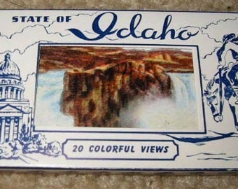 1940s plus linen finish mini postcard pack of 20 the state of Idaho