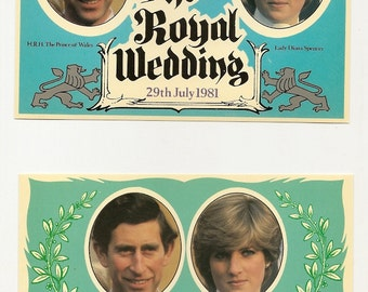 8 POSTCARDS  - ROYAL WEDDING Souvenir - Lady Diana - 1981
