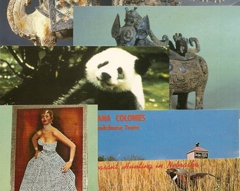 58 DIFF POSTCARDS China Pandas,Buildings, Scenes ETC....