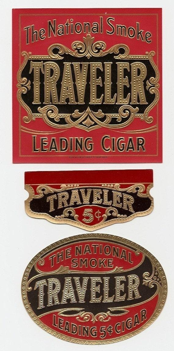 13 1930s plus DIFFERENT EMBOSSED plus UNUSED Cigar Box Labels