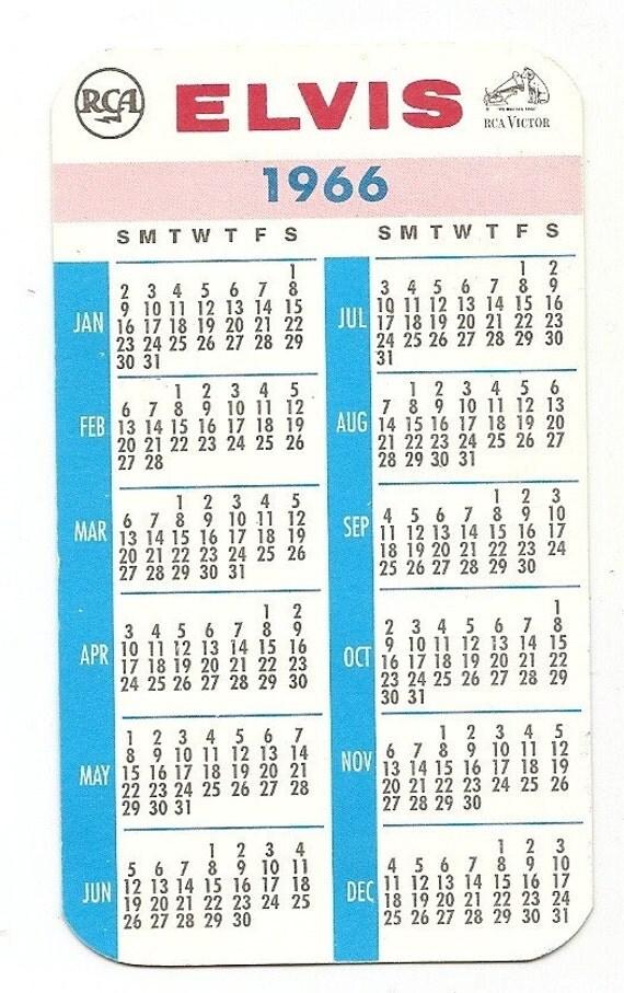 Old 1966 ELVIS PRESLEY RCA Pocket Calendar from inkpainter