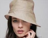 1940 style linen hat