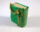 Miniature Book Gold Embossed Book Journal Diary Ooak Dollhouse Mini
