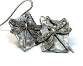 Dragonfly Earrings Sterling Silver - Enchanted Dragonfly
