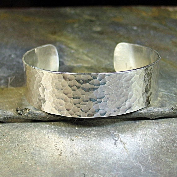 Hammered Sterling Silver Cuff - City Lights