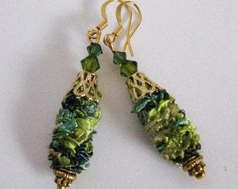 Fiber Fantasy Dangle Earrings