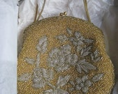 Beaded Gold Purse