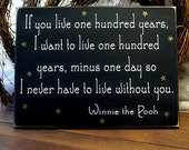 If you live one hundred years Painted Wood Sign