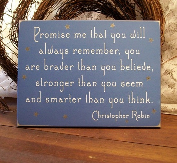 promise me you will always remember wood sign painted wall