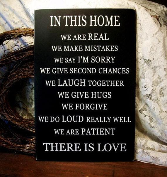 Family Sign Saying There Is Love Wood Wall Sign Plaque