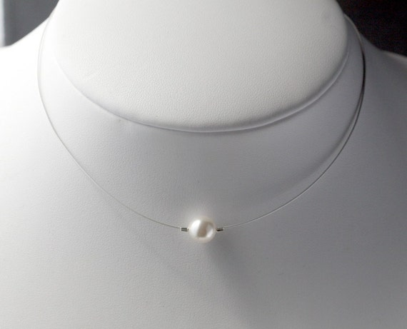 Just for Diane Single Pearl Necklace Sofia Necklace Pearl Wedding Jewelry Bridal Party Gift Simple Pearl Drop Necklace Swarovski Pearl