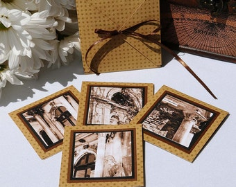 """Photo 3x3"""" Blank Cards - Set of 4 images from Argentina"""