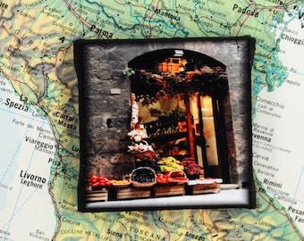 Mini Canvas Magnet - Sienna, Italy