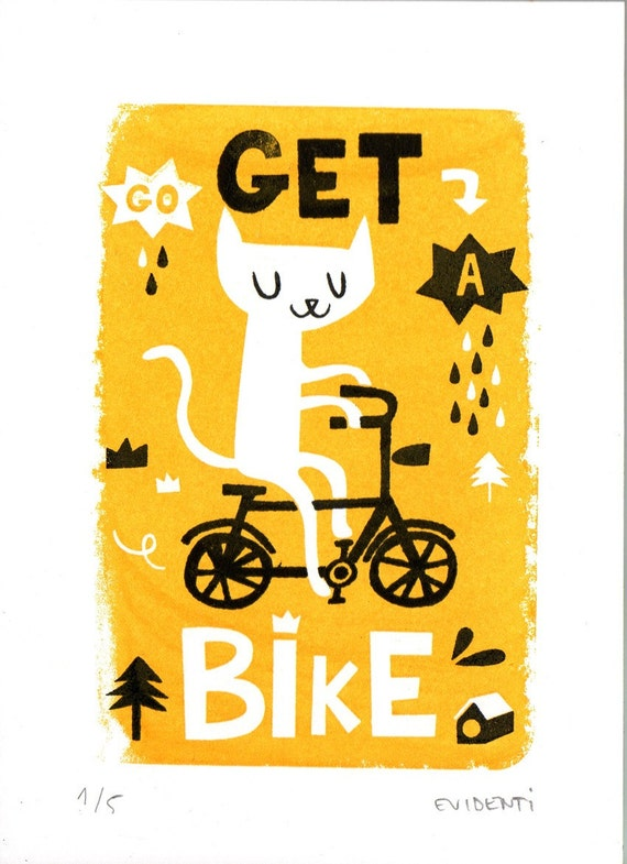 Get a bike limited gocco print