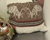 Man CAve Felted Wool Upcycled Pillow