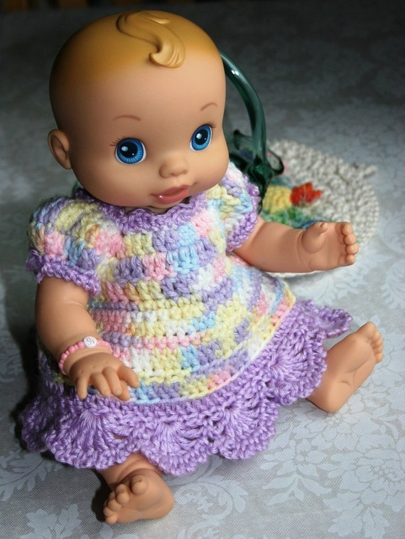 Doll Clothes Baby Alive Wets N Wiggles Crochet Dress Orchid