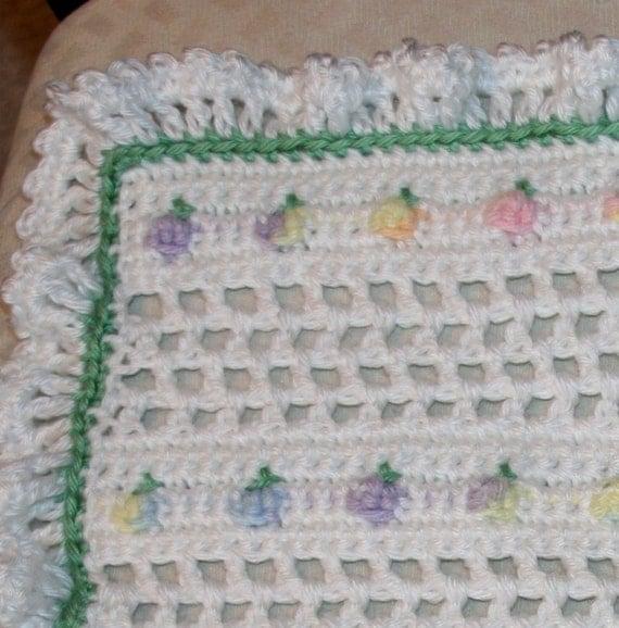 Crochet baby doll blanket afghan 15x13 by ...