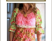 Lila Tueller Designs Funked Out Peasant Top Pattern PinkFig