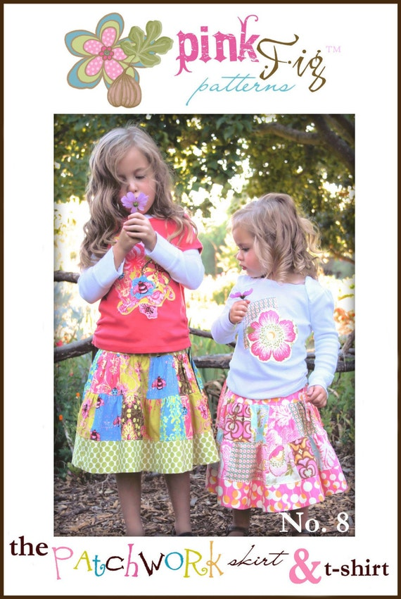 Pink Fig Patterns The PatchWork Skirt and T-Shirt PinkFig
