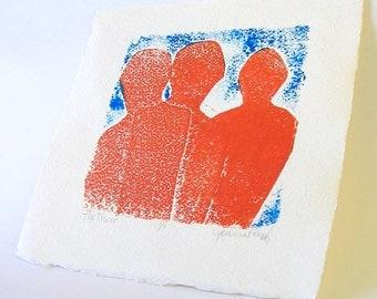 Original art - The Three - Monotype
