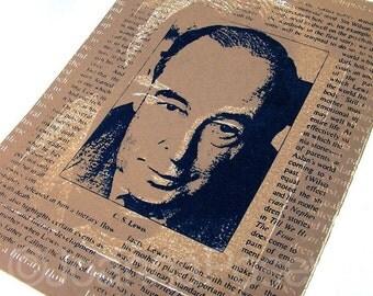C.S. Lewis Serigraphy Print screenprint original