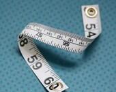 Tape Measure Bracelet in White