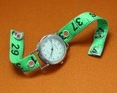 Tape Measure Watch in Green