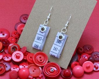 SALE! Tape Measure Earrings in Lavender