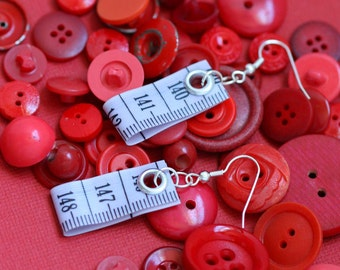 SALE! Tape Measure Earrings in Lavender