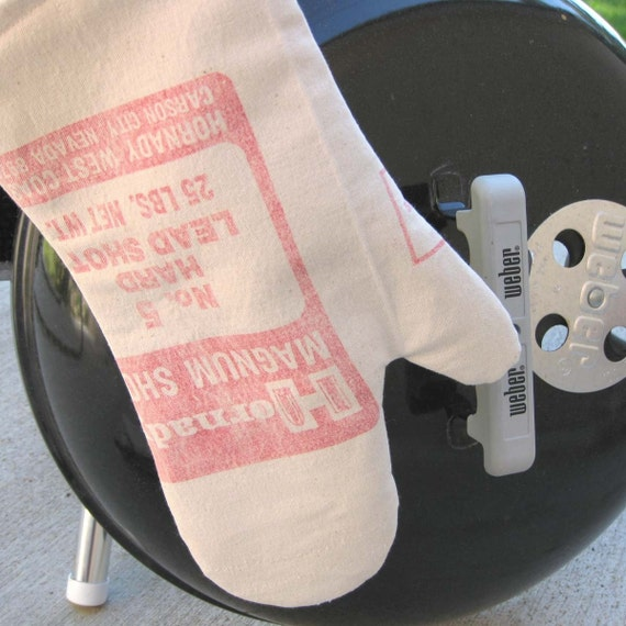 Hot Shot Upcycled Barbecue Mitt for Grilling, Dutch Oven or Kitchen-Hornady