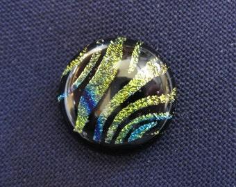 Dichroic Glass Tie Tack, Dichroic Scarf Pin - Animal Print - 012