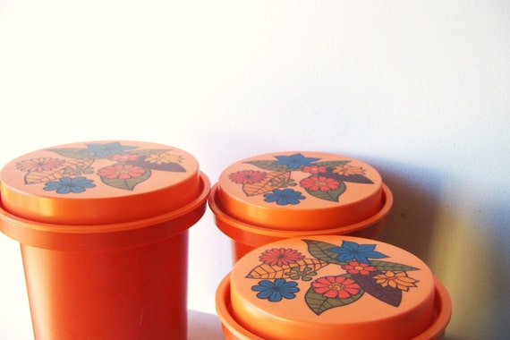 Retro Orange Canister Set