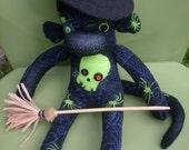 Wicked Witch Halloween Sock Monkey