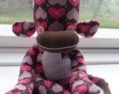 SALE SALE Love Me Valentine Rice filled Sock Monkey