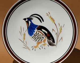 Stangl Pottery Quail Serving or Wall Plate