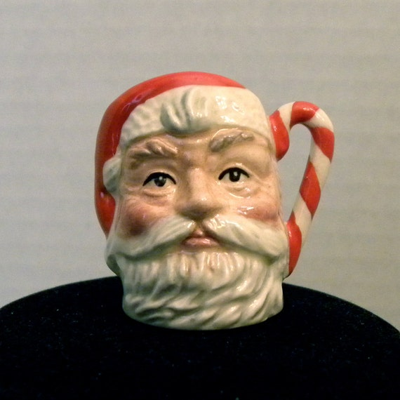Royal Doulton Tiny Santa Claus Character Jug Mug with Candy Cane Handle
