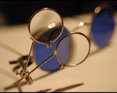 Steampunk Mad Scientist Silver Clip-On Magnifying Double Lens by Velvet Mechanism