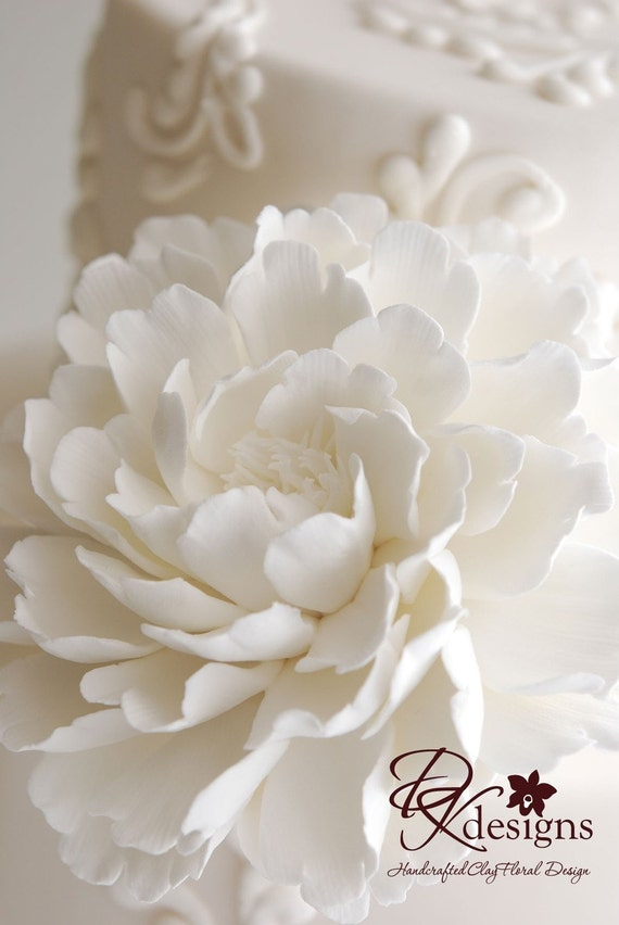 Made to Order - Couture Clay Peony Cake Flower