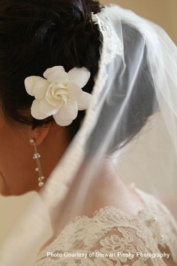 CLAYCRAFT by DECO - The Original Gardenia Hair Flower for Weddings