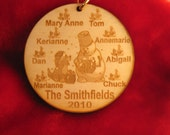 2016 Wooden Personalized Family or Grandparent Ornament tag
