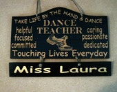 Personalized Wooden Dance Hip Hop Teacher Wall Hanging - Great Gifts for Dance Teachers - Etsy Finds