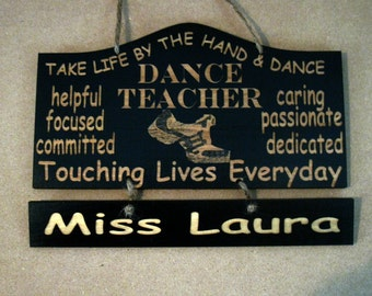 Personalized Wooden Dance Hip Hop Teacher Wall Hanging