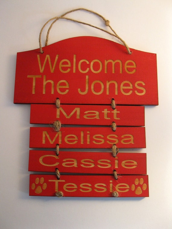 Personalized Wooden Family Wall Hanging Small