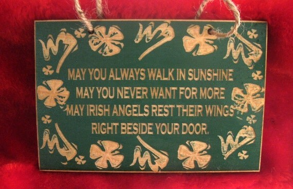 Irish Blessing Wooden Sign